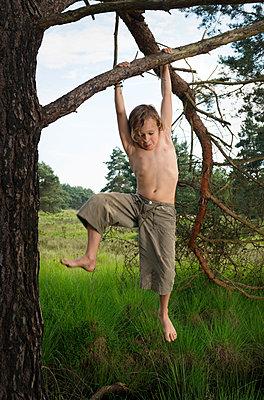 Kids play in the woods - p1132m1152766 by Mischa Keijser