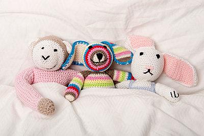 Drei Häkeltiere - p451m1045414 von Anja Weber-Decker