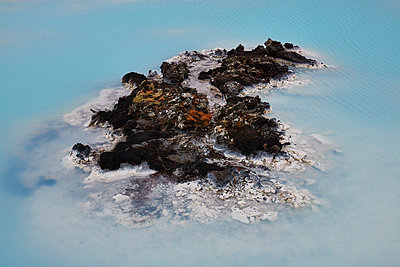 Lava rocks at the blue lagoon - p719m1123206 by Rudi Sebastian