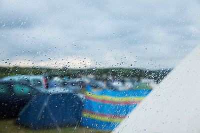 Camp site in the rain - p924m744539f by Janeycakes Photos