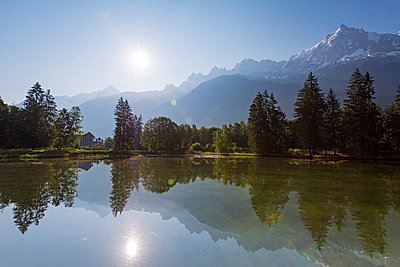 Europe, France, Haute Savoie, Rhone Alps, Chamonix Valley, Lacs des Gaillands - p651m1005702 by Christian Kober