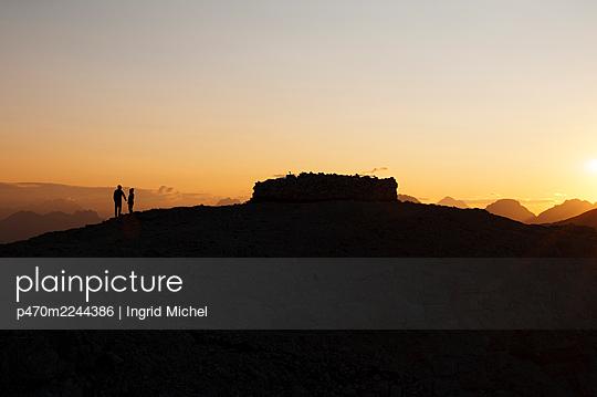 Pale di San Martino at sunrise - p470m2244386 by Ingrid Michel