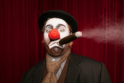 Clown with cigar II - p1093m855450 by Sven Hagolani