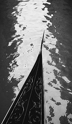 Prow of Gondola - p3007891f by Wolfgang Weinhäupl
