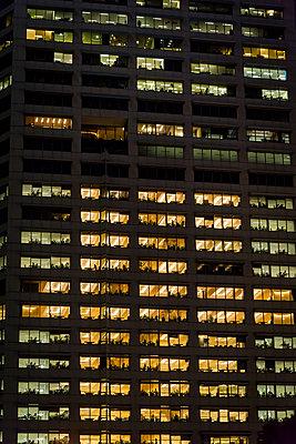 Office building at night - p1170m2045732 by Bjanka Kadic