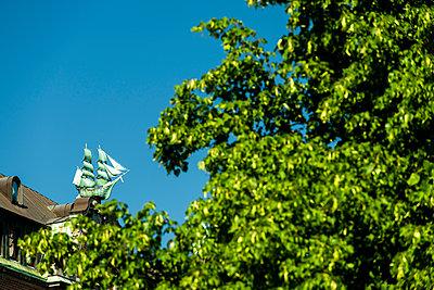 Schiff auf Globushof in der Altstadt, Hamburg - p1493m1584472 von Alexander Mertsch