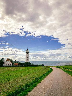 The lighthouse on Helnæs - p382m2283998 by Anna Matzen