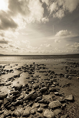 Pebbles on a beach - p1228m1168900 by Benjamin Harte