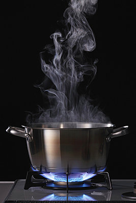 Smoke Emitting From Cooking Pot - p307m711853f by AFLO