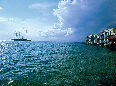 Segelschiff und Meer - p3300002 von Harald Braun