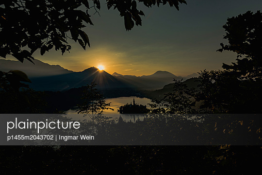 Early morning sunrise at Lake Bled - p1455m2043702 by Ingmar Wein