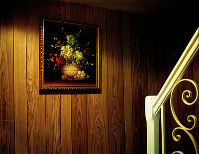 Framed canvas on stair case - p388m701460 by Jim Green