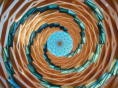 Türkei, Istanbul, Marmara-Universität, Moschee der Fakultät für Theologie, Decke - p390m2254451 von Frank Herfort