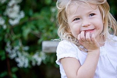 Girl smiling - p6690125 by Julian Winslow