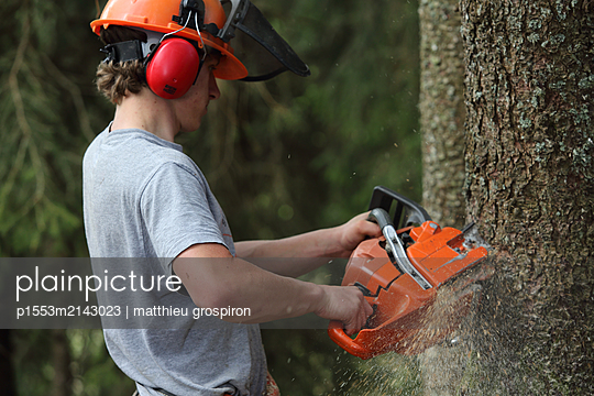 chainsaw works - p1553m2143023 by matthieu grospiron