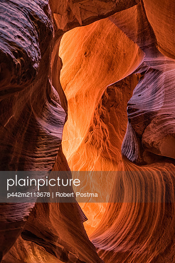 Slot Canyon known as Canyon X, near Page; Arizona, United States of America - p442m2113678 by Robert Postma