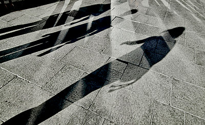 Pedestrian shadows - p1125m917356 by jonlove