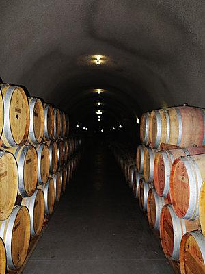 Truchard Vineyards wine cave. - p3437921 by Ron Koeberer