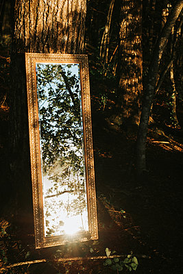Sweden, Mirror in the forest  - p1507m2196143 by Emma Grann