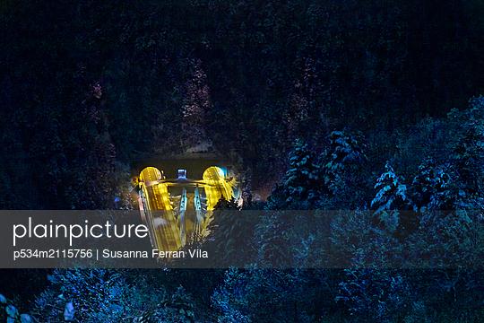 Night shot, Túnel dels dos Valires - p534m2115756 by Susanna Ferran Vila