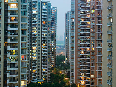Shanghai apartment buildings - p9249162f by Image Source