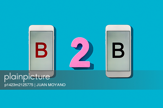 B2B, for business to business concept - p1423m2125775 by JUAN MOYANO