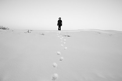 Footsteps in Snow - p1262m1104803 by Maryanne Gobble