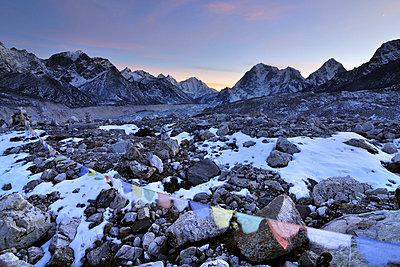 Nepal mountain landscape at sunset - p316m664189 by Yevgen Timashov