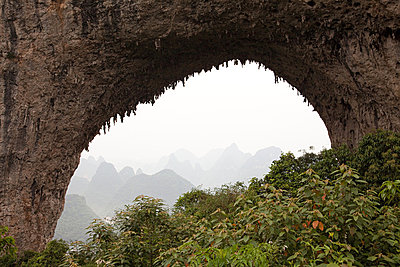 China, guangxi province, yangshuo, moon hill - p9244874f by Image Source