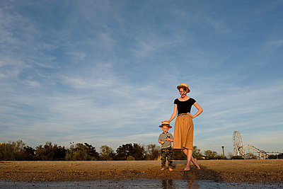Woman and his son in park - p1363m2134885 by Valery Skurydin