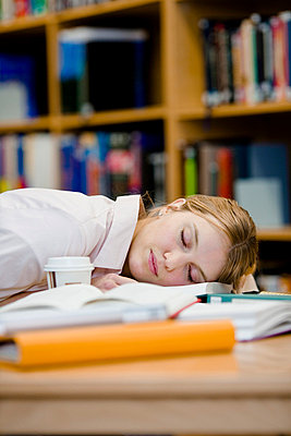 A female student who has fallen asleep Sweden - p31222799f by Plattform