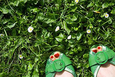 Grüne Pumps im Frühling - p4540367 von Lubitz + Dorner