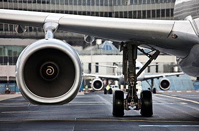 Airplane engine - p1250m1050292 by werner bartsch