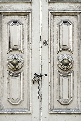 Old wooden doors padlocked  - p1280m2150724 by Dave Wall