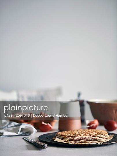 Pancakes - p429m2091316 by Debby Lewis-Harrison