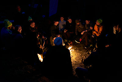 People at campfire - p312m1499117 by Michael Jonsson