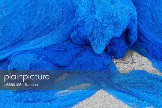 Blaues Fischernetz - p6660106 von Sennaa