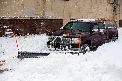 Schneeräumer in Boston - p756m787394 von Bénédicte Lassalle