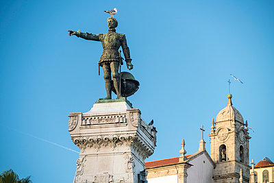 Portugal, Porto, Historic Statue of Prince Henry the Navigator - p1332m2197114 by Tamboly