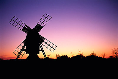 Windmill with nightsky in the background. - p5750135 by Stefan Ortenblad