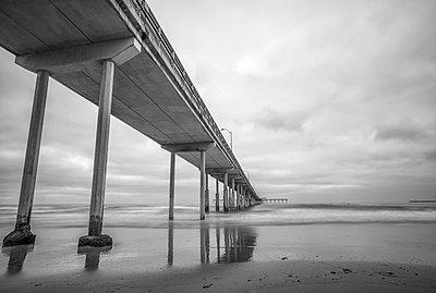 Ocean Beach Pier. San Diego, California, USA. - p1436m2020734 by Joseph S. Giacalone