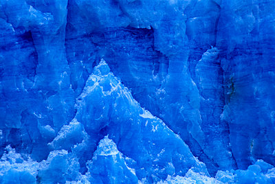 The close-up of the serac of a glacier. Patagonia, Argentina. - p343m964812 by Dan Rafla