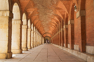 Arcaded Passage Royal Palace Of Aranjuez; Aranjuez Comunidad De Madrid Spain - p442m784362 by Ken Welsh