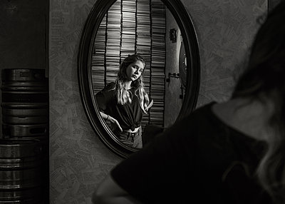 Girl in the Mirror - p1503m2015914 by Deb Schwedhelm