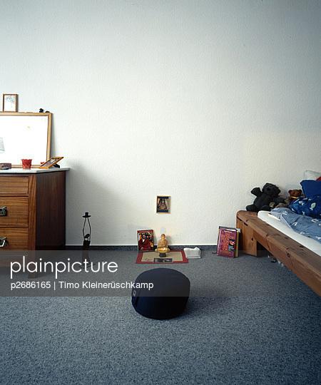 Kinderzimmer mit Buddha-Meditationsecke - p2686165 von Timo Kleinerüschkamp