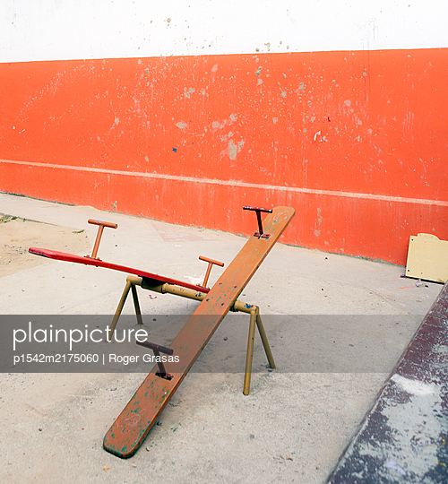 empty Seesaw  - p1542m2175060 by Roger Grasas