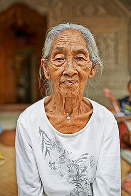 Old Balinese woman - p390m958990 by Frank Herfort