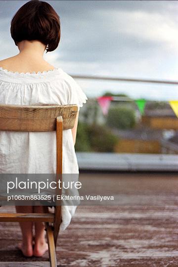 Woman in a white dress - p1063m883525 by Ekaterina Vasilyeva