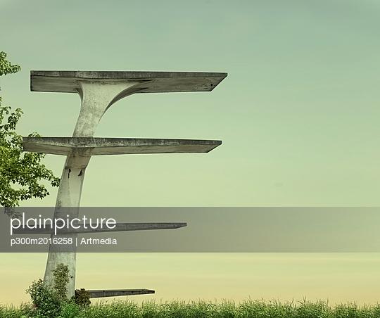 Empty highboard - p300m2016258 von Artmedia