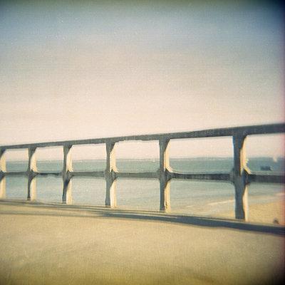 Nobody on the pier - p1105m924247 by Virginie Plauchut